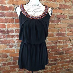 White House Black Market Jeweled Tunic Top Dress